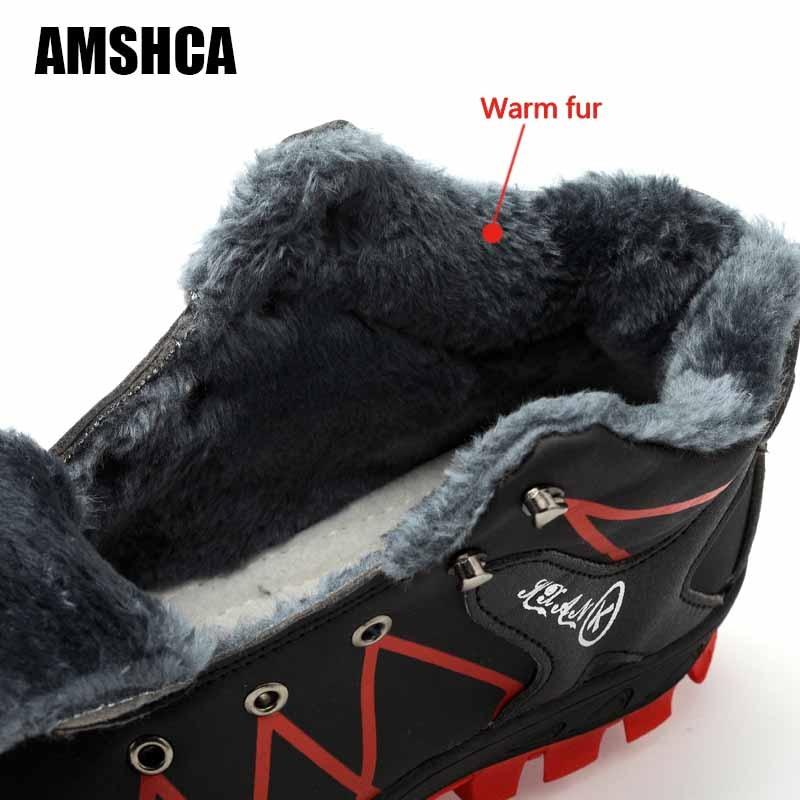 Quente Prova Homens E Segurança Casuais À Os Dos Indestrutível Fur Trabalho Aço Calçados Pé Do Neve Inverno 46 Dedo 45 High Água D' Botas Para 47 De low Pretas CWqqnx56