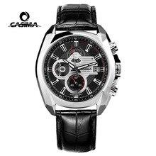 Luxury Brand CASIMA New Sports Men Watches reloj hombre Fashion Leather Waterproof Men Quartz Watch Relogio Masculino montre