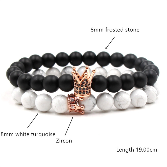 Купить лидер продаж классический браслет из бисера в виде короны мужской