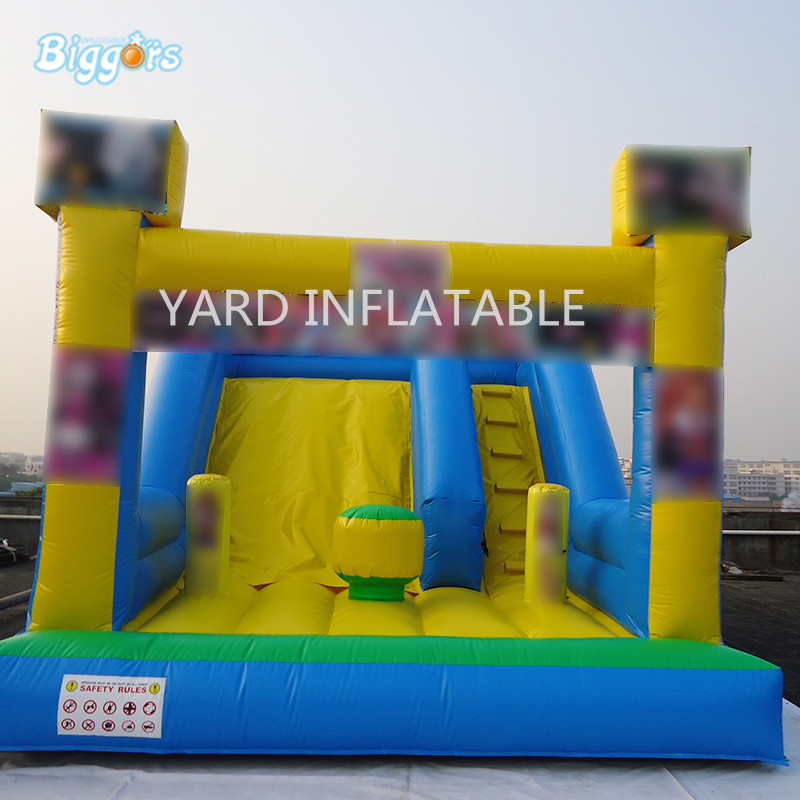 PVC Inflatable Bouncy Slide Inflatable Jumping Slide Commercial Use For Outdoor Activity 2017 outdoor playhouse water slide inflatable slide trapaulin pvc slide sandal toy market guangzhou china
