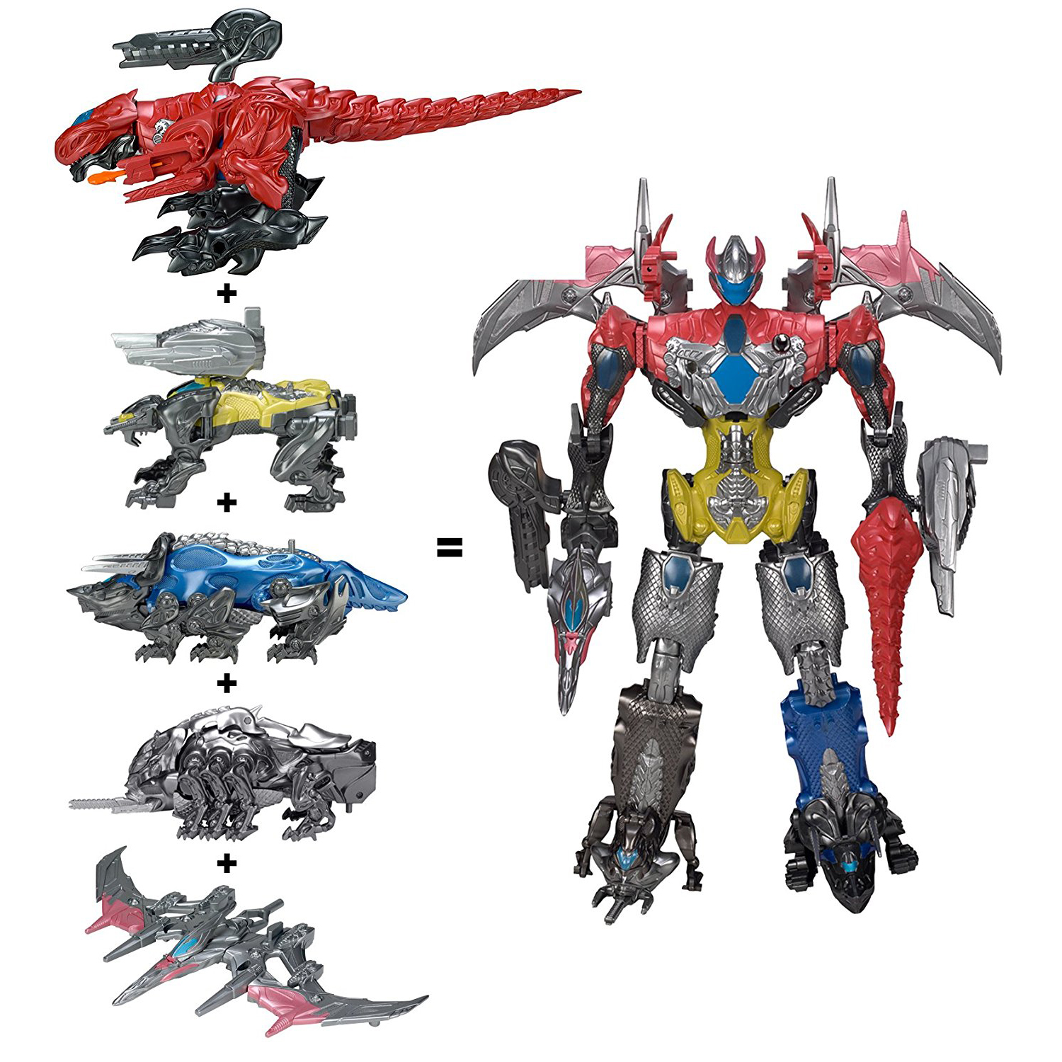 Action Figure Christmas Gifts Doll Toys Powe Ranger Combination Deformation Transformation Dinosaur Warrior Megazord 5 in 1 assembly toys transformation robot dinosaur rangers megazord action figures kids christmas gifts