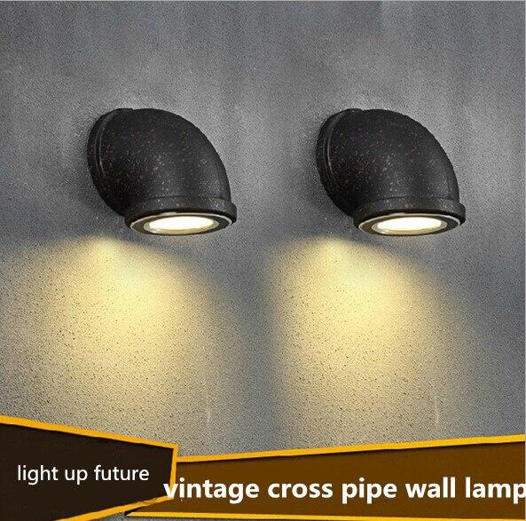 ФОТО vintage loft painted iron led 3W wall lamp creative Dia 9/13.5cm black indoor wall light for bar aisle restaurant 1848