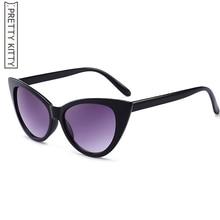 Femmes Cat Eye lunettes de Soleil De Mode de luxe Marque Designer lady  femme Points miroir Lunettes de Soleil pour femmes quai . 65e320c0b8f3