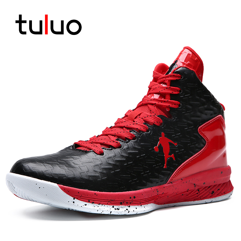 TULUO nouveau haut-top hommes Chaussures De Basket-ball classique sport homme baskets formateur grande grande taille 36-47 hommes Chaussures De Basket-ball Chaussures
