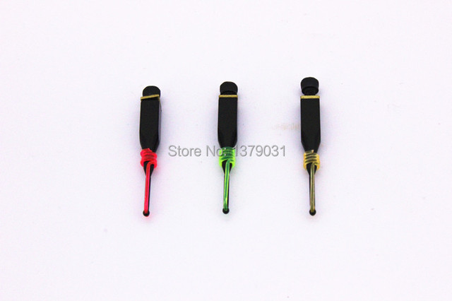 """free shiping replacement bow sight optic pin 0.029"""" fiber 3/16"""" slotted 3pcs/set yellow green red tricolor /archery accessories"""
