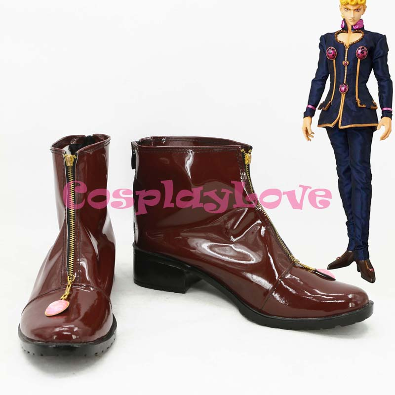 Newest Custom Made Japanese Jojo Bizzare Adventure Jonathan Joestar Cosplay Shoes Long Boots For Christmas Halloween Festival