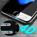 0.2mm 4D Ultra Thin New 3D Curved Full Cover Tempered Glass Screen Protector Film for iPhone 7 6 6S Plus 4.7 5.5