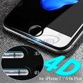 0.2mm 4D Ultra Thin Nuevo 3D Curva Completa Cubierta de Vidrio Templado protector de pantalla de cine para el iphone 7 6 6 s más 4.7 5.5