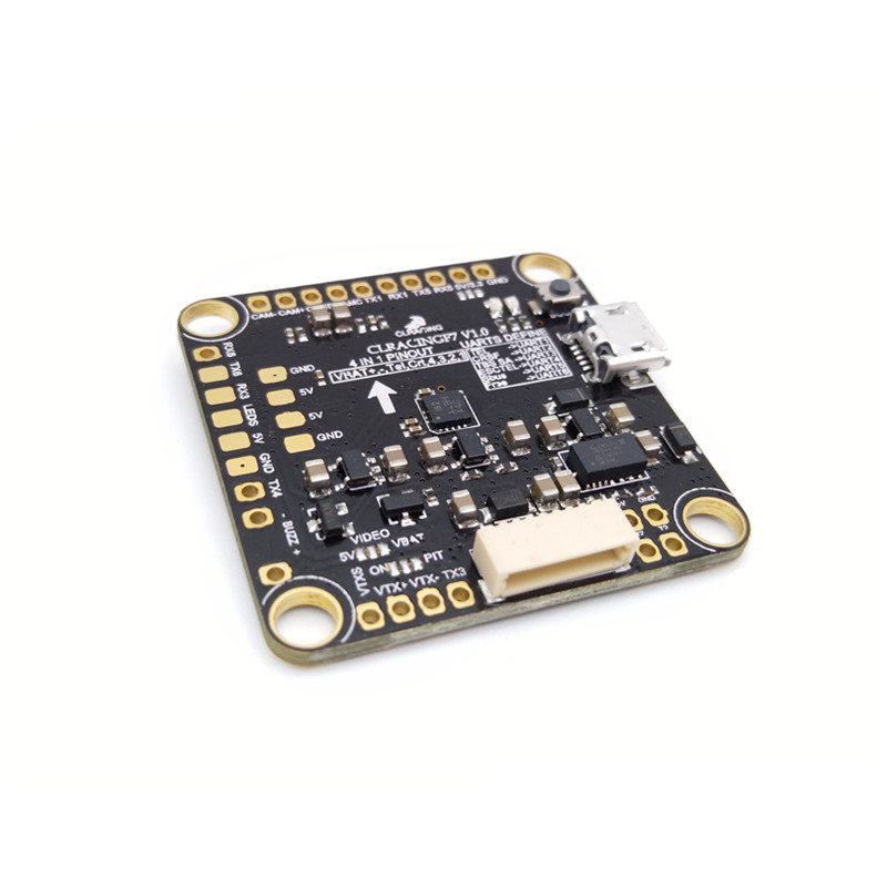 CL Racing F7 Flight Controller w Betaflight OSD STM32F722RET6 Voltage Monitoring Resister 5V 1 5A BEC