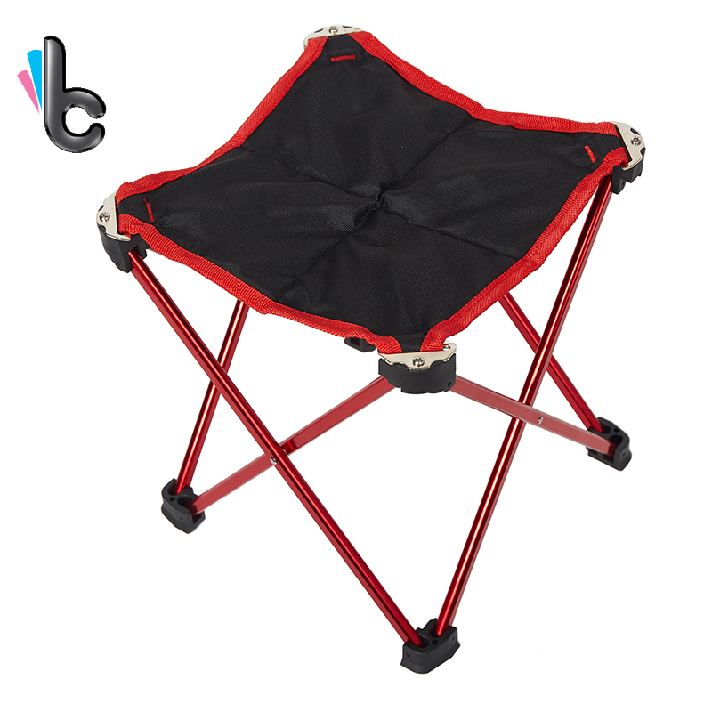 Outdoor Portable Stool Aluminum Oxford Folding Chair Fishing Stool Garden Furniture Camping Chair aluminum alloy portable outdoor tables garden folding desk with waterproof oxford cloth