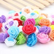 50pcs/lot Silk Flower Creative bubble head Rose wreath pectoral flower bouquet Wedding dress Decorative wreaths materials