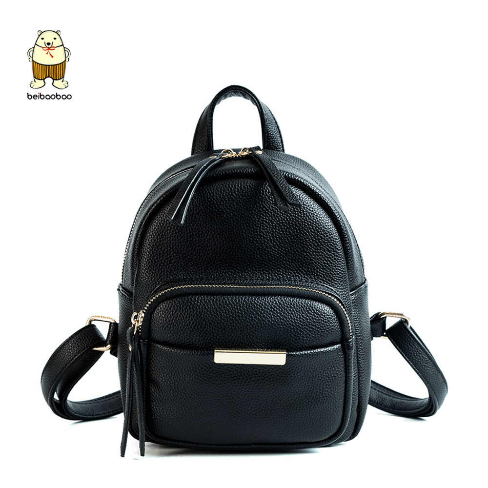Beibaobao 2019 Women Bag PU Leather Backpack School Bags for Girls  Teenagers For Books Small And 158f33f2b5395