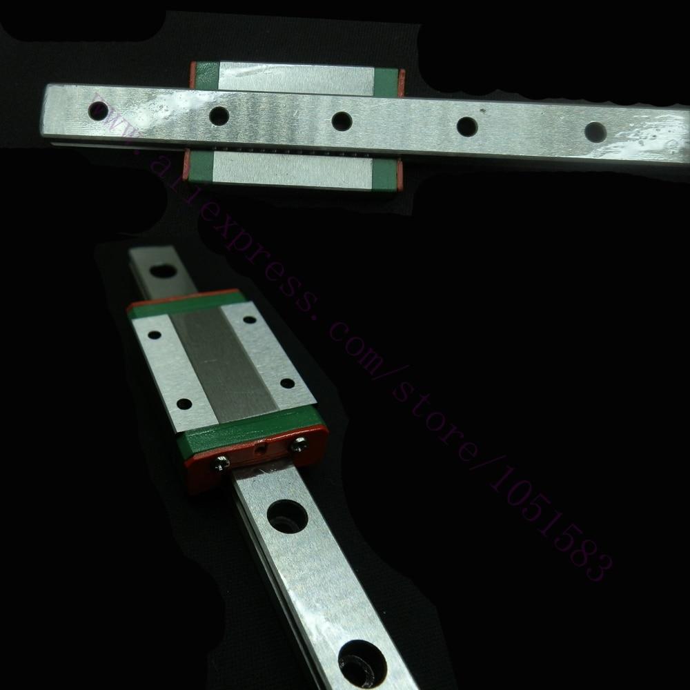 Kossel Mini MGN12 12mm Miniature Linear Rail Slide 2pcs 12mm L-400mm rail+2pcs MGN12H carriage for 3D Printer CNC kossel pro miniature mgn12 650mm linear slide 3 pcs mgn12 650mm rail and 3 pcs of mgn12h or mgn12c carriage 3d printer parts