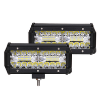 2X LED Bar 7inch 120w Work Light Bar Combo Car Driving Lights For Off Road Truck 4WD 4x4 UAZ Ramp Auto Fog Lamp