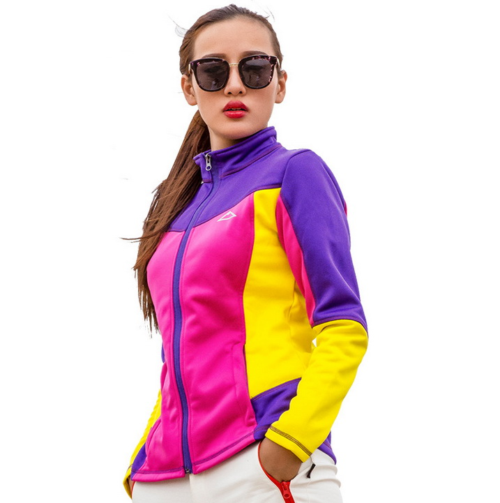 ФОТО Autumn Winter Women Running Jacket Joining Together Contrast Color Softshell Ski-wear Large Size Sports Camping hiking Jackets