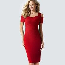 b7d59e3b2 Vendimia de las mujeres del verano vestido elegante bodycon Slim sexy  Oficina de Trabajo lápiz vestido