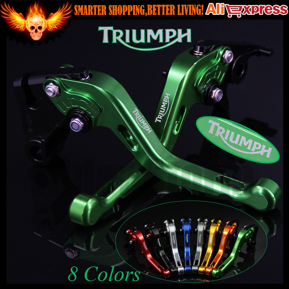 ФОТО New Green 8 Colors CNC Aluminum Motorcycle Short Brake Clutch Levers For Triumph SPRINT RS 1999 2000 2001 2002 2003