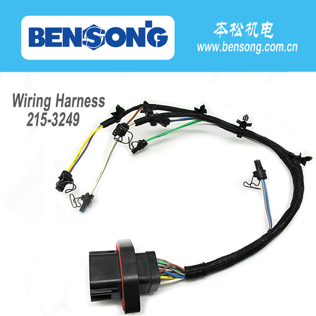 C9 diesel engine parts 215 3249 419 0841 injector wiring harness for