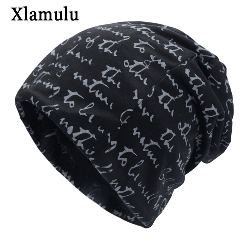 Xlamulu Fashion Women's Winter Hats For Men Cap Male Female Beany Hat Bonnet Warm Gorros Baggy Winter Skullies Beanies Hat Caps