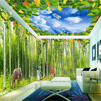 Forest Animal Whole House Custom Any Size Wall Paper Background Art Wall Covering Restaurant Home Decor