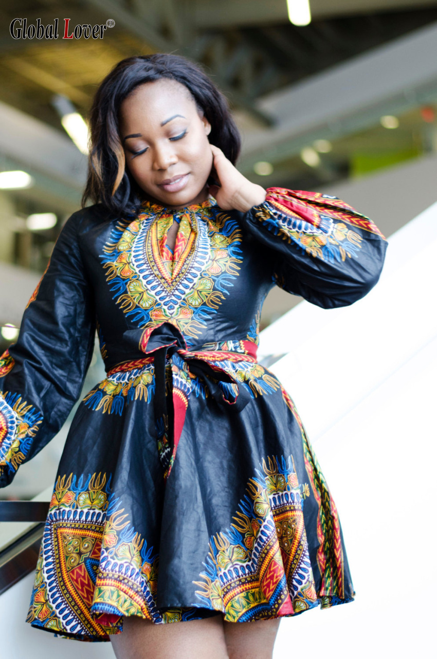 2016 Plus Size Dashiki Traditional African Dress for Women ...
