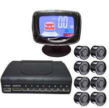 Car detector reversing radar LCD display parking sensors 8 sensors reverse car-detector system parktronic parking radar