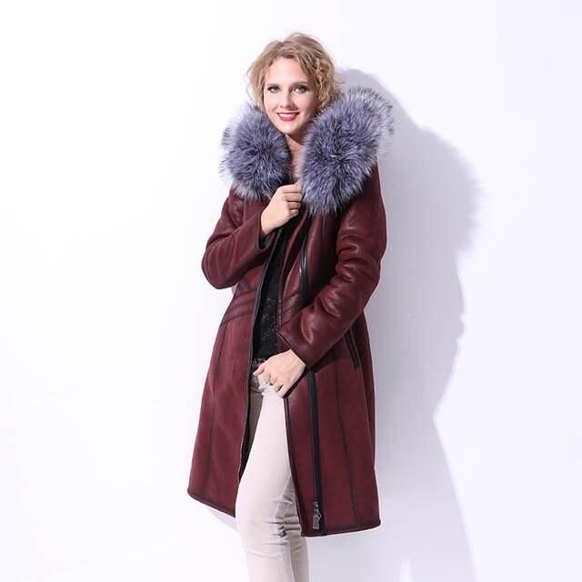a86caaaa6a1dc placeholder S-7XL Plus Size Winter Fur Jacket Long Women Russian Synthetic Fox  Fur Hooded Suede