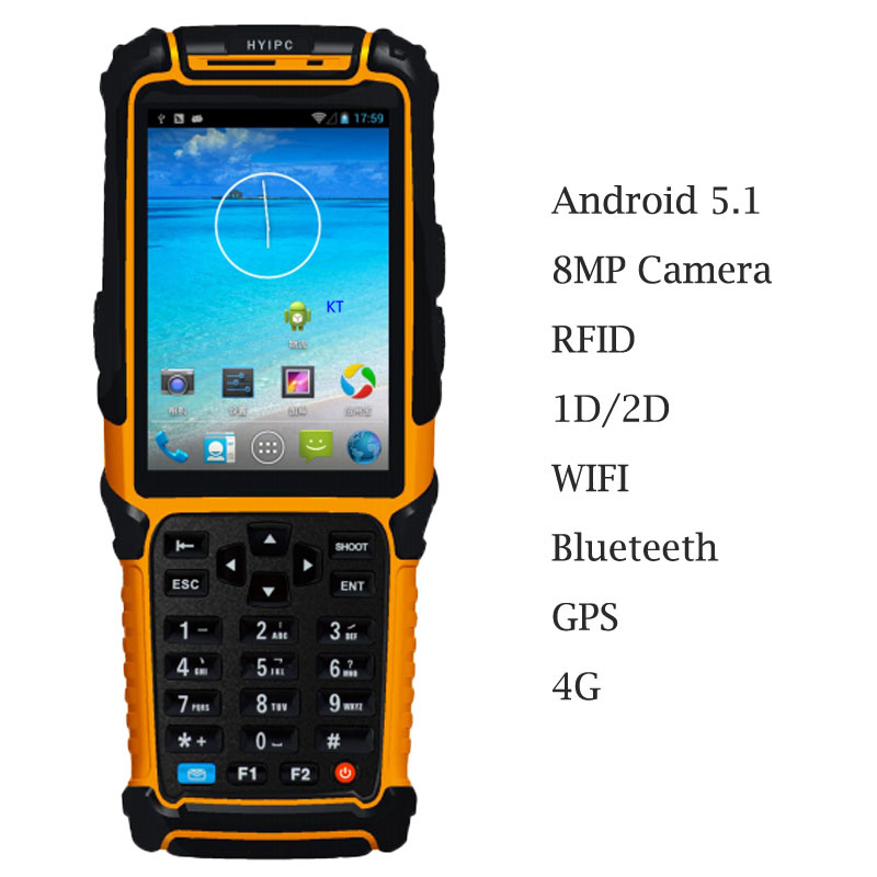 US $352 6 |Android 5 1 Handheld Terminal Barcode Scanner Reader 4 0
