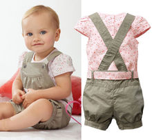 Baby Girls Kids Rompers Newborn Playsuit T-shirt Pants Outfit Clothes set