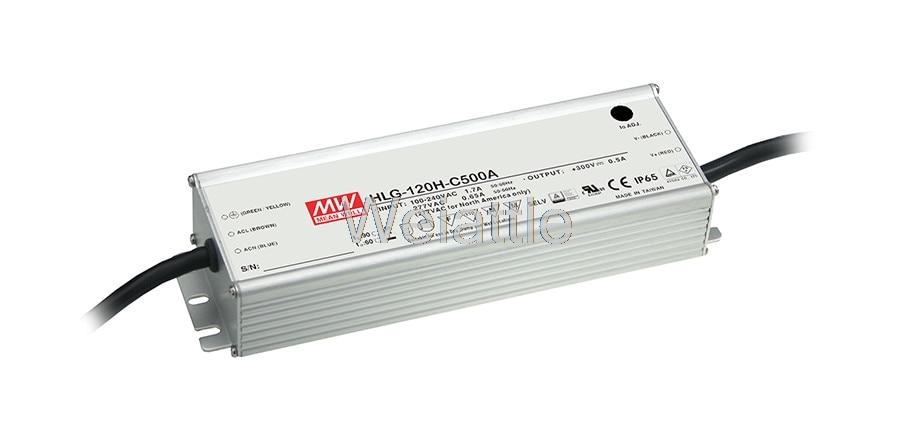 MEAN WELL original HLG-120H-C350D 215 ~ 430V 350mA meanwell HLG-120H-C 150.5W LED Driver Power Supply D Type 10pcs rjp4301app rjp4301 to 220f 430v