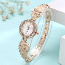 Lvpai Fashion Ladies Watches Luxury Diamond Set Dial Gold Angel Wings Strap Quartz Wrist Casual Small Women Clock