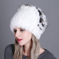 15 Colors Real Rex Rabbit Fur Hat For Women Natural Raccoon Fox Fur Hats Ear Warmers Winter Thick Fashion Bomber Caps