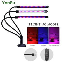 LED Grow Light Full Spectrum Fitolampy Hydroponics 5V USB Phyto Lamp With Controller For Greenhouse Vegetable Plant Lighting