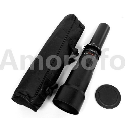 Objectif téléobjectif Amopofo 650-1300mm f/8-16 pour Canon EF Digital rebelle T3i 600D noir