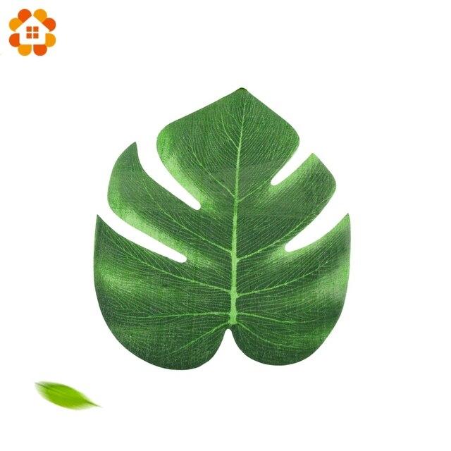 48 pcs feuilles de palmier tropical diy feuilles - Feuille de palmier artificielle ...