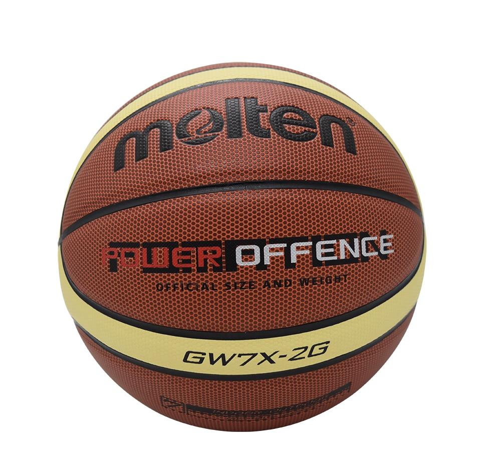 f1b96e9554ee5 D'origine fondu basket ball taille 7 fondu basket ball taille 6 basket ball  Fondu PU Matériel Officiel Size7/Taille 6/5 basket ball dans Ballons de  basket ...