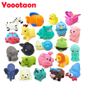 Wholesale 22pcs/lot Kawaii baby Bath toys animal insects High-quality soft ABS Early education newborn baby toys Make sounds