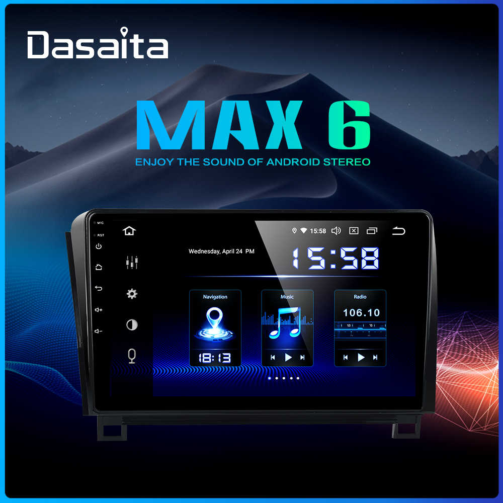 "Dasaita Android 9.0 Car Radio For Toyota Tundra 2007-2013 Sequoia 2008-2018 Car Multimedia 10.2"" IPS 1024*600 Bluetooth DSP"
