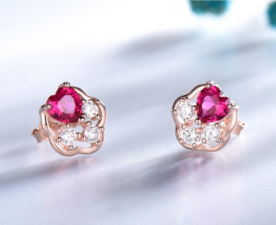 UMCHO-Ruby-925-sterling-silver-stud-earrings-for-women-EUJ076R-3-PC_04