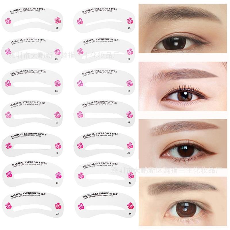 Reusable Eyebrow Stencil Set Eye Brow DIY Drawing Guide Styling ...