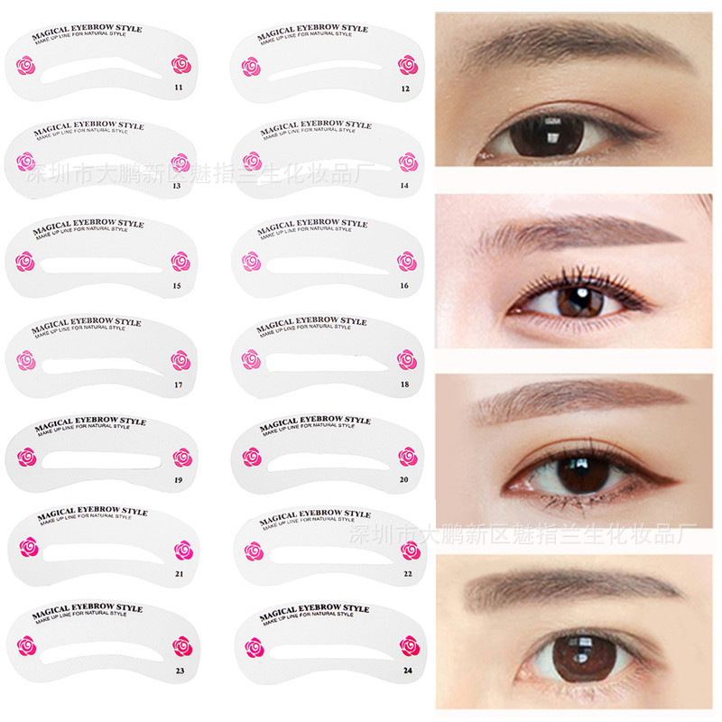 24 design reusable eyebrow guide quick drawing perfect for Eyebrow templates printable