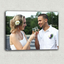 Sweet Couple Custom Photo Memories to Canvas For Anniversary Gifts