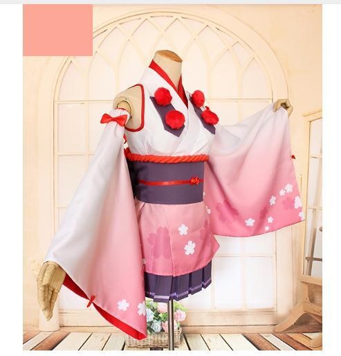 Горячая аниме Show рок! Бесс ООН кимоно платье Косплэй костюм Новинка 2018 г. Бесплатная доставка