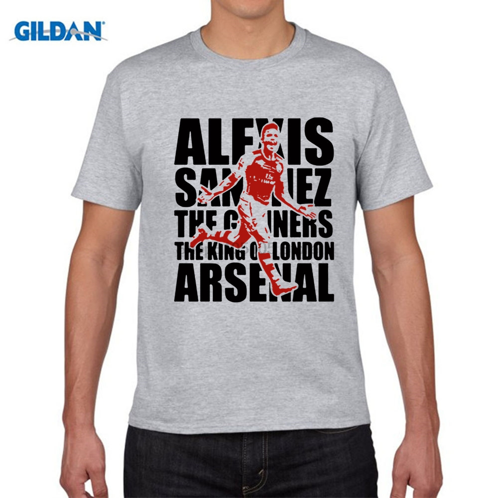 GILDAN Mens Short sleeve t-shirt Alexis Sanchez Chile London Premier League Emirates Stadium ARS 100% cotton t shirt