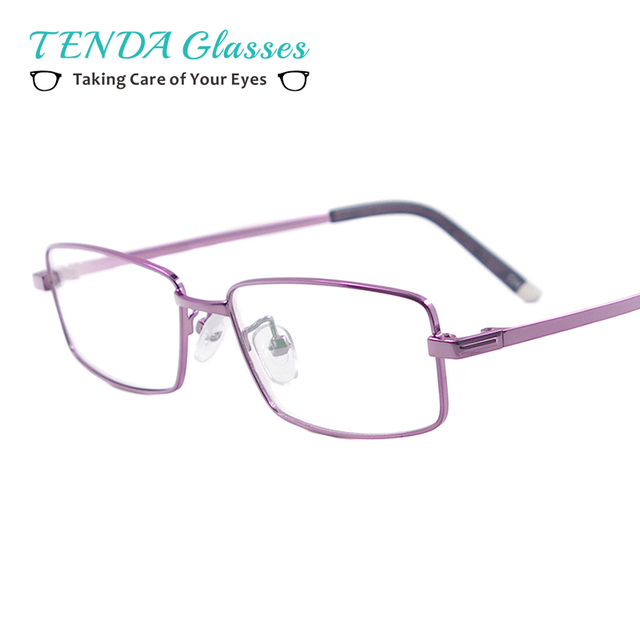 0b4b70559f0 Women Small Flexible Memory Titanium Rectangular Eyewear Men Colourful  Spectacles For Myopia Lenses
