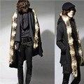 2017 novos homens casaco quente gola de pele com capuz casaco Coreano homens moda casual outerwear