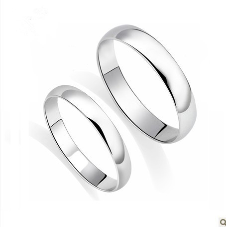 genuine his and hers wedding band 3mm wide white gold color ring