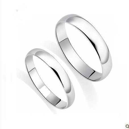 genuine his and hers wedding band 3mm wide white gold color ringwhite - His And Hers Wedding Rings Cheap