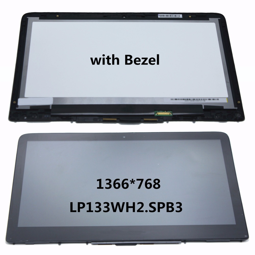 LCD Display Touch Screen Assembly LP133WH2.SPB3 For HP Pavilion x360 13-s122ds 13-s195nr 13-s100nj 13-S121ds 13-s192nr 13-s060sa