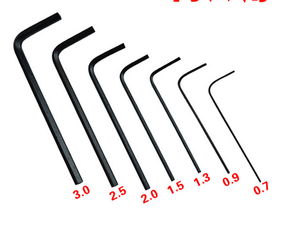 7pcs In 1 Hex Key Allen Wrench Set 0.7mm~3mm Metric Hand Tool Precision Hex Wrench High Hardness Hexagonal Wrench